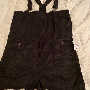 Black stretch overalls medium